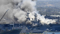 Cover for Sailor charged in connection to 2020 fire that destroyed $1 billion Navy ship in San Diego