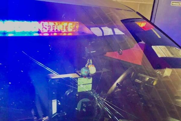 Picture for Woman arrested for drunk driving breaks trooper's windshield