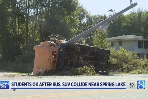Picture for No students injured in school bus crash near Spring Lake