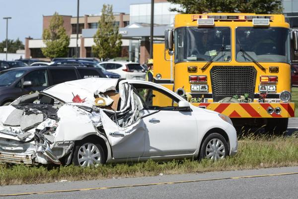 Picture for UPDATE Route 15 open after two sent to hospital following accident