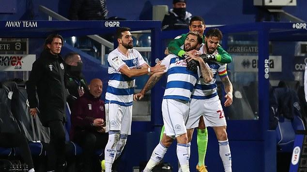 Picture for Queens Park Rangers 2-1 Brentford: Sam Field and Charlie Austin give Hoops west London bragging rights as Bees slip to back-to-back defeats after Ivan Toney had given them the lead