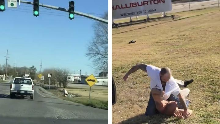 Cover for Social Media Reacts To Brawl On Side Of Houma Highway In Broad Daylight