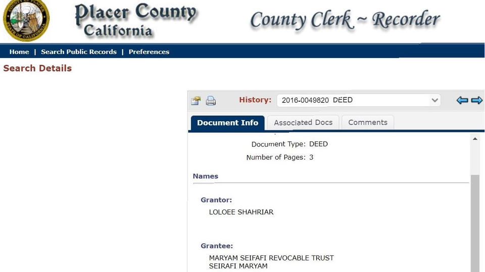 Picture for Councilmember Sean Loloee owns home in Granite Bay under trust