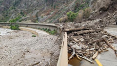 Cover for 'Extreme Damage' To I-70 Through Glenwood Canyon Forces Prolonged Closure
