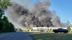 Cover for Massive fire engulfs Rockton chemical plant; no major injuries reported