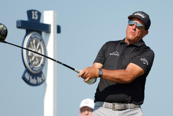 Picture for Wind whips the world's best at PGA Championship while 50-year-old Phil Mickelson emerges from the pack