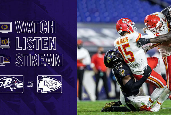 Picture for How to Watch, Listen and Live Stream Ravens vs. Chiefs