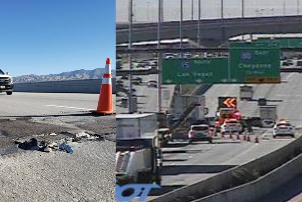 Picture for UPDATE: All lanes of I-15 reopen in SLC after crews repair roadway