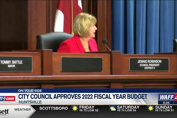 Picture for Huntsville City Council approves 2022 budget