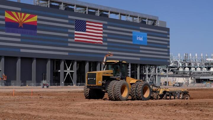 Cover for Intel breaks ground on $20 billion Arizona plants as U.S. chip factory race heats up