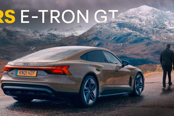 Picture for Rory Reid Experiences Audi E-Tron GT RS On Mountain Road In Scotland