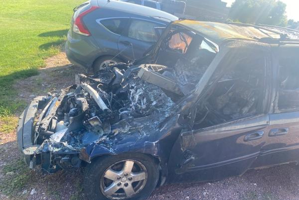 Picture for 'God had different timing for me': Off-duty EMT saves woman from burning car near Alton