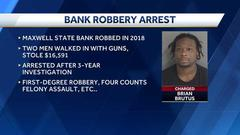 Cover for Arrest made in 2018 Iowa bank robbery