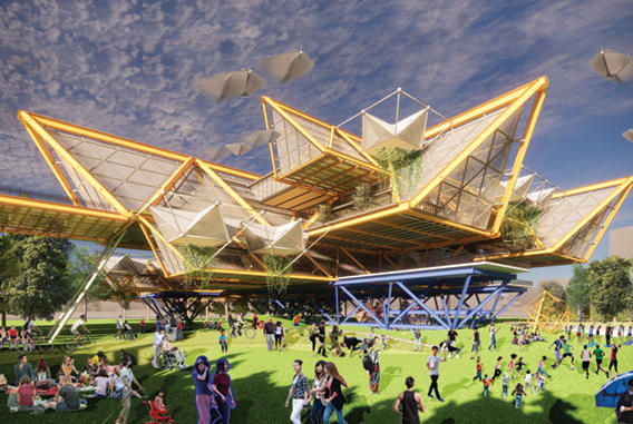 Picture for 1st place in international competition for UH architecture students