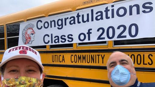 Wwbu Christmas Break 2020 With schools closed, Utica staff delivers caps and gowns to