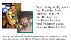 Cover for Williamson County Sheriff's Office search for missing Marion man