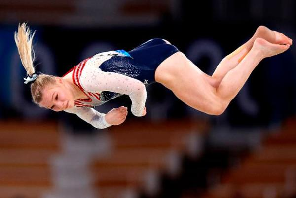 Picture for Jade Carey: Gold medal winner says Simone Biles told her to go and 'kill floor'