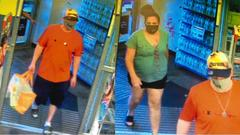 Cover for Police are looking for two people accused of stealing a DVD player