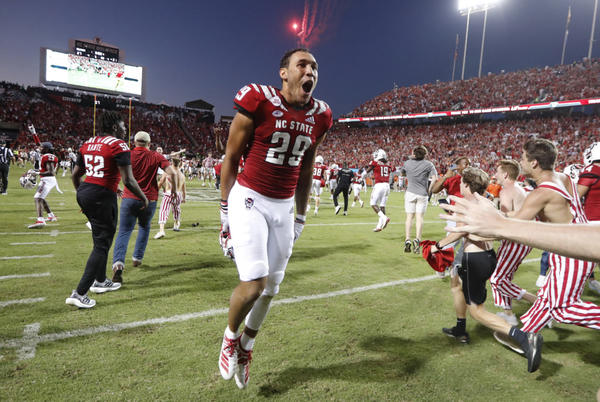 Picture for Watch: NC State football fans storm the field after the Wolfpack upset Clemson