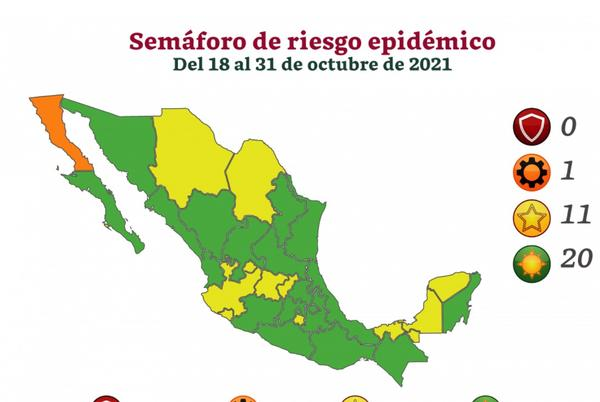 Picture for Ministry of Health reports 20 of Mexico's states in the green