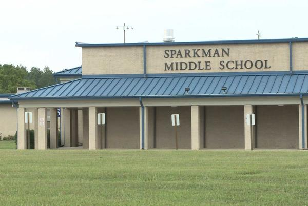 """Picture for Sparkman Middle School went on """"lockout"""" after phone threat"""