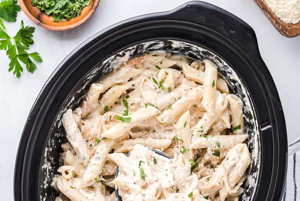 Picture for Slow Cooker Olive Garden Chicken Alfredo Pasta