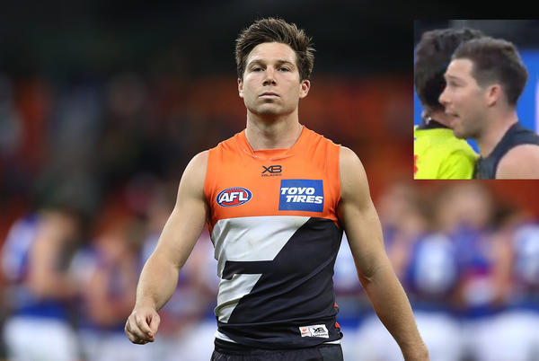 Picture for Toby Greene tribunal: When will GWS star appear to fight umpire contact charge?