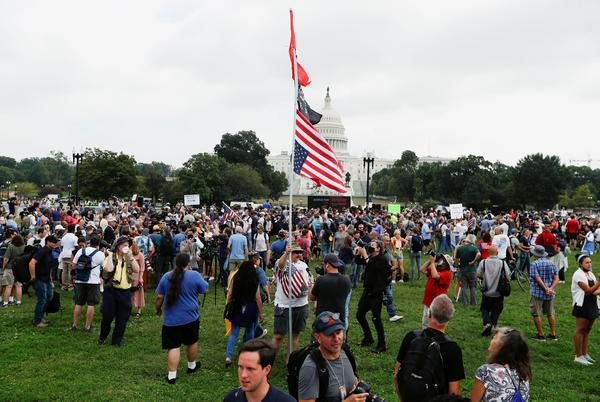 Picture for Rally in support of Jan 6 rioters mercilessly mocked as more journalists show up than Trump fans