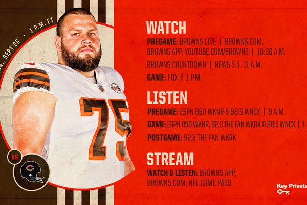 Picture for Cleveland Browns vs. Chicago Bears: How to Watch, Listen and Live Stream