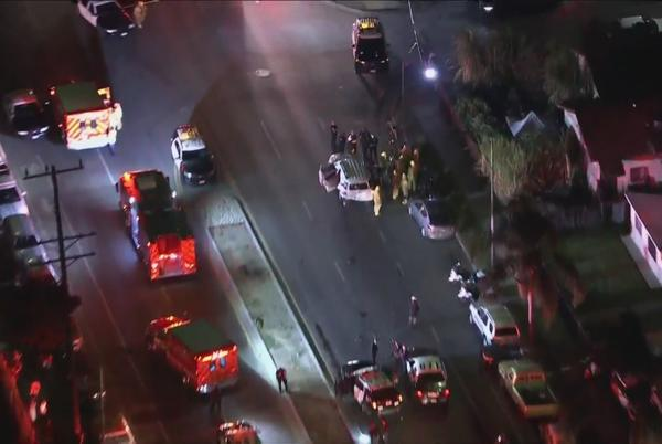 Picture for Children, police officers among 8 hurt in South L.A. crash: LAFD