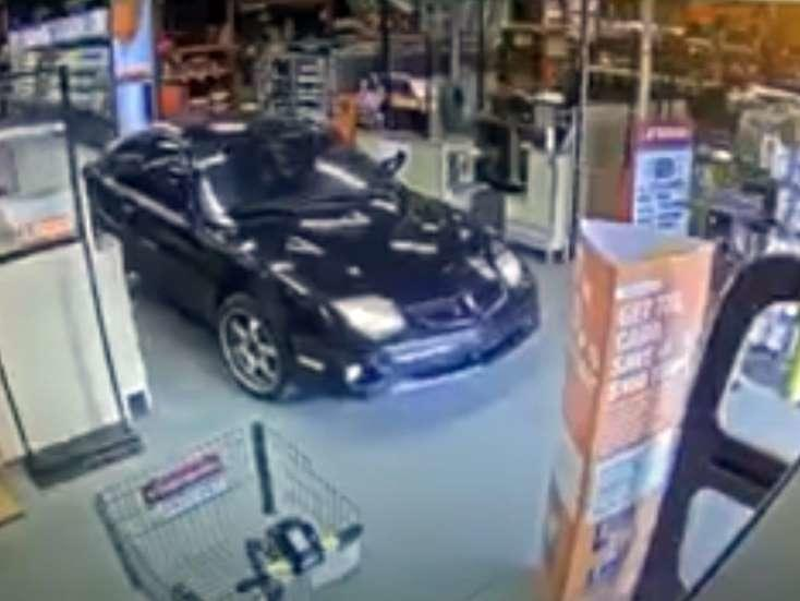 See It Woman Drives Car Into Alabama Home Depot Steals Stuff And Escapes News Break