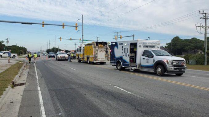 Cover for Head-on crash involving dump truck, SUV blocks U.S. 158 in Nags Head for two hours