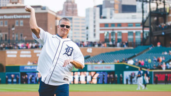 Cover for Roseville fire chief throws out first pitch at Comerica Park on 20th anniversary of Sept. 11