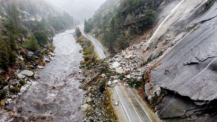Cover for Drought-stricken California pounded by massive storm; San Francisco sees its 4th wettest day ever