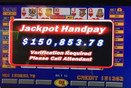 Picture for Royal flush leads to $150K jackpot at Las Vegas casino