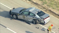 Cover for Driver Crashes Into Colorado State Trooper's Vehicle On C-470