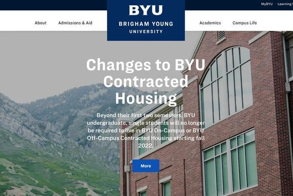 Picture for Major change at BYU: Students 'may choose to live anywhere' after freshman year