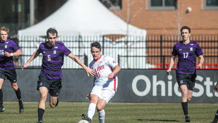 Cover for Men's Soccer: Ohio State upsets No. 17 Bowling Green 2-1 in double overtime