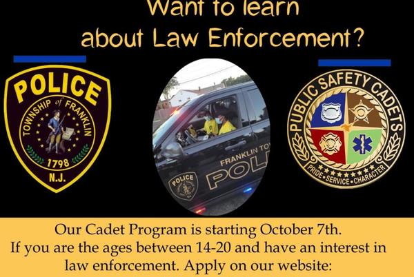 Picture for Franklin Township Police Are Now Recruiting Public Safety Cadets!
