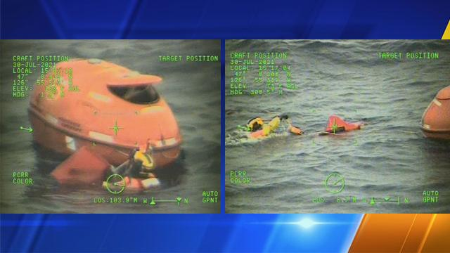Picture for Man in emergency life raft rescued off Grays Harbor