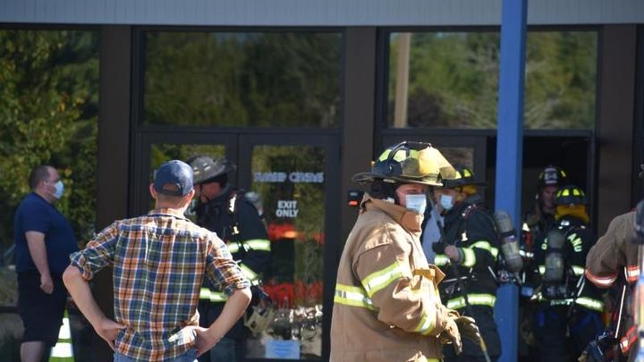 Cover for Unexpected lighting in dark Thomaston theater draws firefighter response
