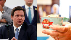 Cover for Ron DeSantis wants Florida to stop buying Ben & Jerry's over its stance on Israel-Palestine conflict