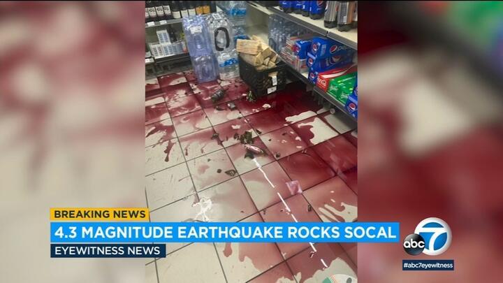 Cover for 4.3 magnitude earthquake hits Carson area, shakes SoCal