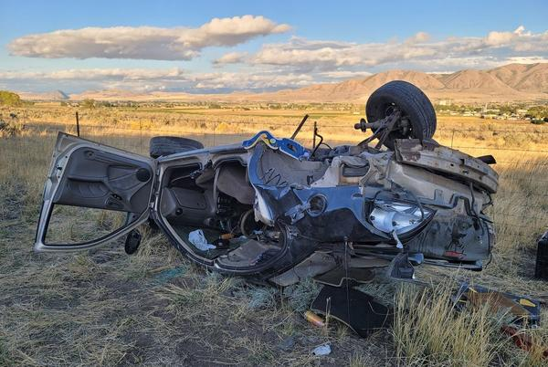Picture for Two hospitalized in Box Elder County rollover crash