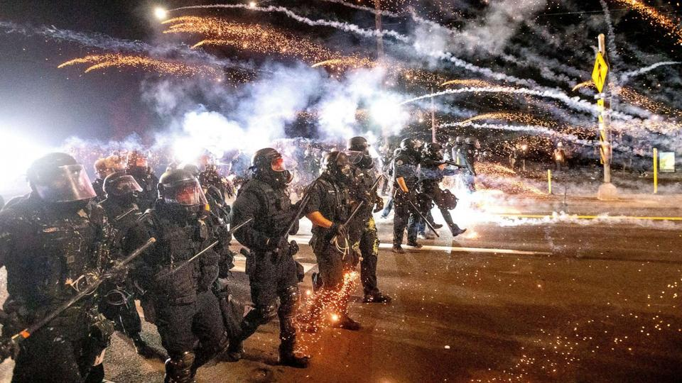 Picture for Entire Portland Police crowd control unit resigns after officer indicted