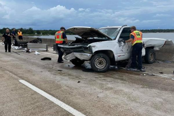 Picture for First responders recover body from water after I-110 bridge accident