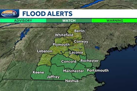 Picture for Remnants of Ida to bring heavy rain to New Hampshire; flash flood watch in effect