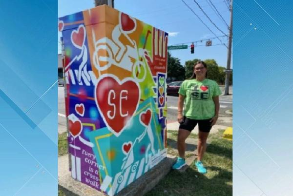 Picture for Roanoke holds 'Color Your Corner Contest'