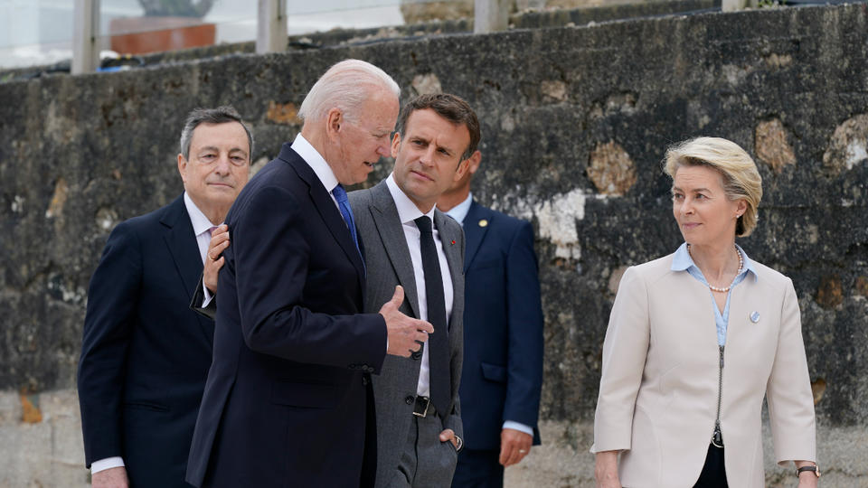 Picture for Biden revels in Trump's absence from the world stage