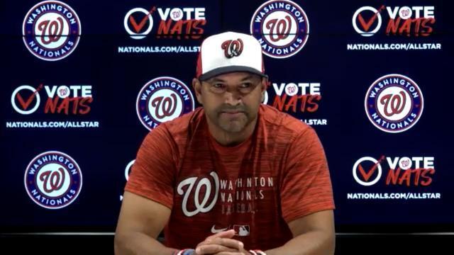 Picture for Washington Nationals | Dave Martinez on Scherzer to IL